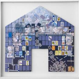 Volver a casa I - 2008 – Objeto, collage, acrílico sobre madera - 0,65m x 0,85m