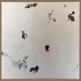 Idas y vueltas II - 1999 –  Díptico -Acrílico sobre tela – 1m x 1m