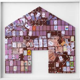 Volver a casa III - 2008 – Objeto, collage, acrílico sobre madera - 0,76m x 0,78m