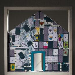 Volver a casa IV – 2008 – Objeto, collage, acrílico sobre madera  - 0,45m x 0,45 m