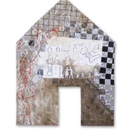 Volver a casa V - 2007 - Objeto, collage, acrílico sobre madera – 1m x 1m