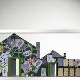 Volver a casa VII - 2007 - Objeto, collage, acrílico sobre madera – 1m x 1m
