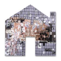 Volver a casa VI - 2008 - Objeto, collage, acrílico sobre madera – 0,66m x 0,30m