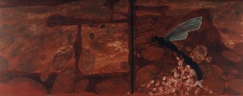 La despedida – 1997 - Díptico – 1,50 x 0,60m - Acrílico sobre tela